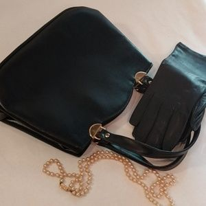 Leather Purse and Gloves